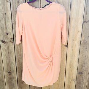 NWOT Zara Knotted Blush Dress